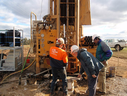 Installing the packer at the Glenkara trial site, Victoria